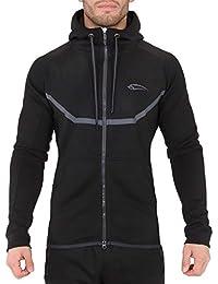SMILODOX Sportjacke Herren | Zip Hoodie für Sport Fitness Gym & Training | TechPro Funktionsshirt - Sweatshirt - Kapuzenpullover - Laufshirt - Sweatjacke Lang