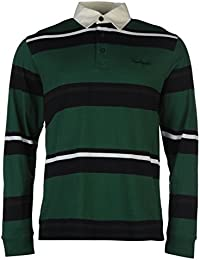 Pierre Cardin Hommes Rugby Polo Shirt T-Shirt Tee Top Haut Manches Longues