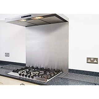 Fire Door Guru® Crédence en acier inoxydable satiné pour hotte de cuisine/cuisinière - Facile à installer - 600 x 750mm - Épaisseur 1,2mm