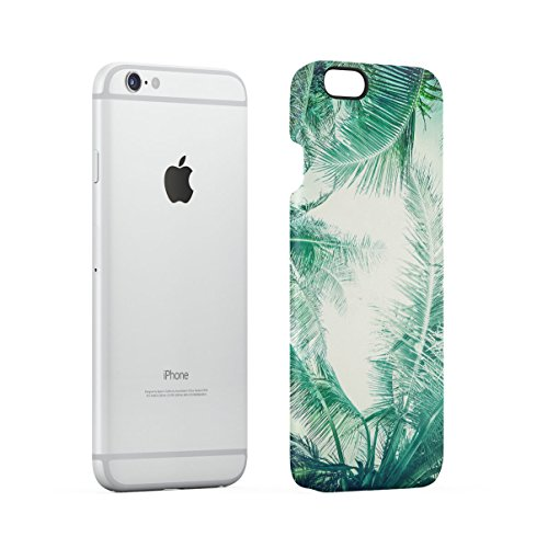 Tropical Flowers Pink Lotus Chevron Pattern Apple iPhone 6 , iPhone 6S Snap-On Hard Plastic Protective Shell Case Cover Custodia Tropical Palms