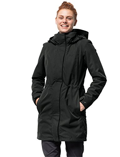 Jack Wolfskin Damen 3-in-1 Mantel Ottawa Coat Jacke, Black HW 17, M