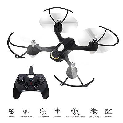EACHINE E33C RC Mini Quadcopter Drone With 2MP HD Camera 2.4G 6-Axis Headless Mode Remote Control Toys Micro Nano Quadcopter RTF Mode 2 (Black )