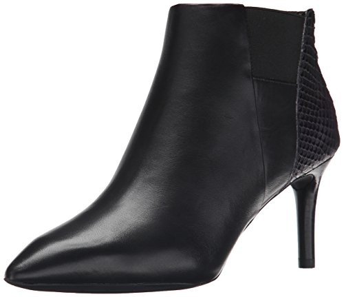 Rockport Total Motion Pointy Toe Layer Bootie Cuir Bottine Black Burnish