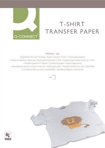 Q-Connect KF01430 T-Shirt Transferfolie, A4, 10 Folien