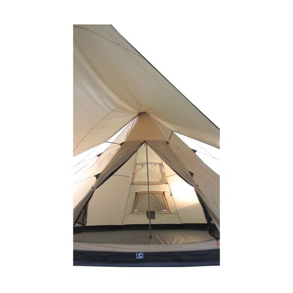 10T Outdoor Equipment Waterproof Shoshone 500 Unisex Outdoor Teepee Tent available in Beige  - 10 Persons 12