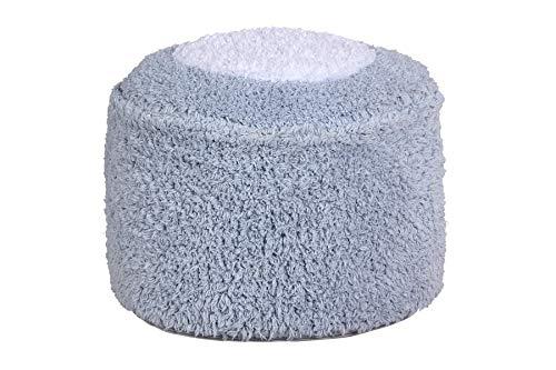 Lorena Canals Puff Marshmallow Round Hellblau, Weiß -100% natürliche Baumwolle/füllung: 100% Polyester - 27x27 cm