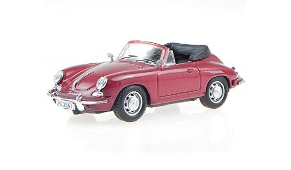 Porsche 356B Cabrio Rot Metallic 1959-1963 1//43 Cararama Modell Auto mit oder ..