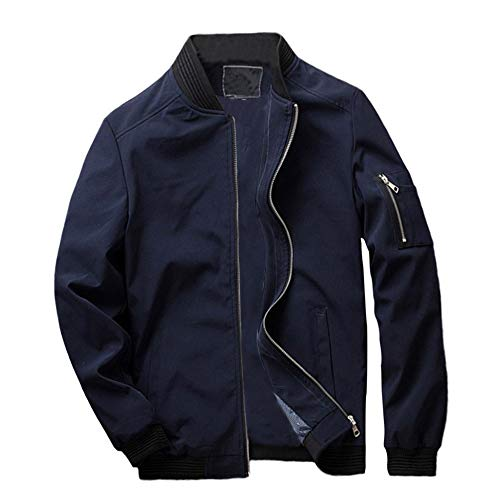 MIRRAY Herren Herbst Winter Casual Pocket Button Thermische Lederjacke Top Coat Schwarz/Rot/Blau M/L...