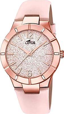 Lotus 18610/2 - Reloj Analógico para Mujer, de Cuarzo con Correa en Cuero, Oro Rosa