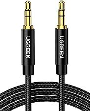 كيبل AUX من يوجرين، كيبل صوت ستيريو 3.5 ملم، مساعد ذكر الى ذكر مرن ومجدول للجوال والتابلت ومكبرات الصوت وستيري