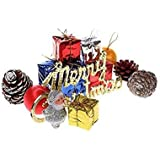 Decorative Buckets:christmas Decorations :ASSORTED CHRISTMAS TREE DECORATIONS|PACK OF 12 |MIX CHRISTMAS DECORATIONS |chistmas Gifts Christmas Balls, Pinecone,candy Stick, Christmas Bells Drums Banner : CHRISTMAS TREE DECORATIONS | MIX Ornaments | Christma