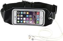WoLu Ejecución de la correa paquete de la cintura, impermeable al aire libre de la correa reflectante Bolsa de cintura para el iPhone 6S / 6 Ventana de pantalla táctil transparente, Universal Sports cinturón de cintura con el suplemento adicional
