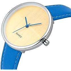 AIBI Wasserdicht Damen-Armbanduhr Analog Quarz Lederband AB45901-3