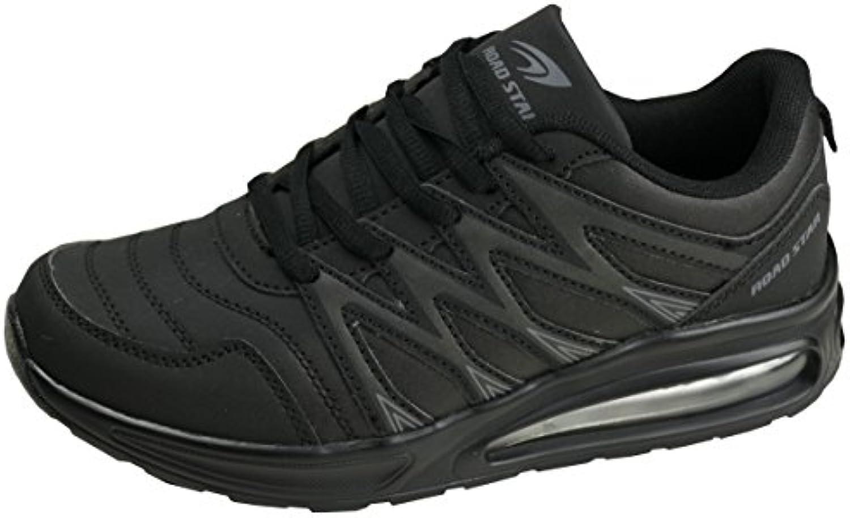 gibra Sportschuhe Sneaker Art. 7227 Sehr Leicht und Bequem Schwarz Gr. 36-41