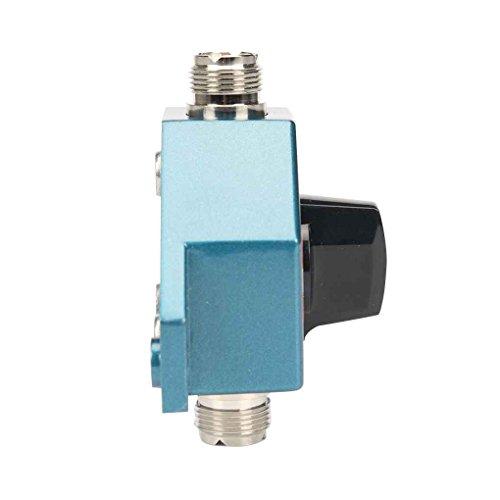 Bomcomi Ham DIY Radio-Repeater 2 Port UHF Buchse 1,8 bis 600 MHz Manueller Antenne Antennenschalter für CA-201 CB-Funk-Antenne (Radio Ham Repeater)