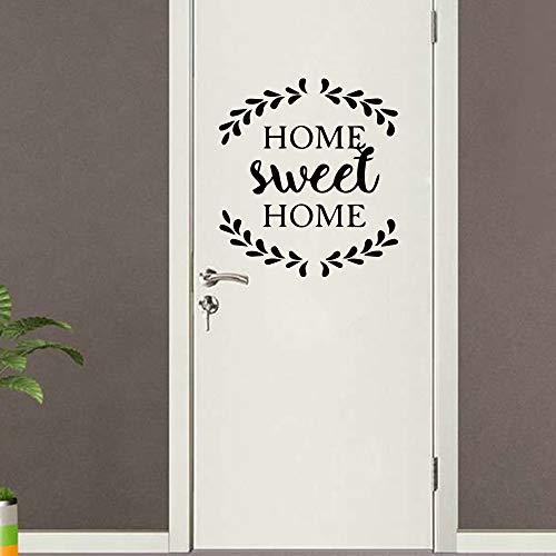 Personalisierte Home Sweet Home dekorative selbstklebende wasserdichte Wohnkultur Familie Clan Kinderzimmer Wand Kunst Wandtattoo schwarz M 30 x 31 cm -