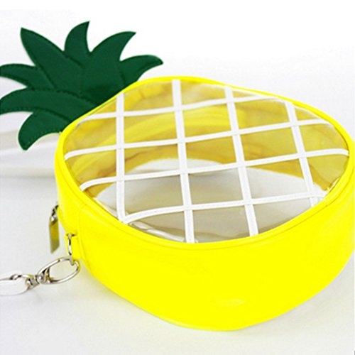 Millya, Borsa a tracolla donna, Yellow (giallo) - kb-00147-01 Transparent