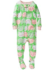 Carter's Baby Girls' 1 Piece Cotton Printed Footie (Baby) - Frogs - 18 Months Color: Frogs Size: 18 Months (Baby/Babe/Infant - Little ones)