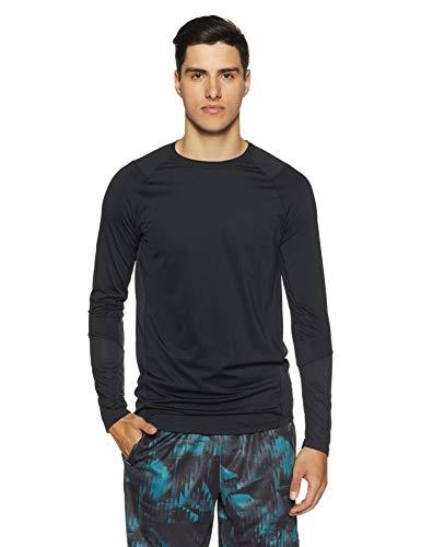 Under armour, mk1 ls, maglia a maniche lunghe, uomo, nero (nero/nero/stealth gray), l