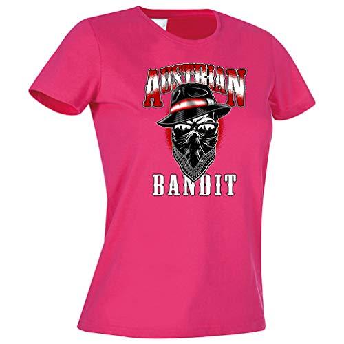 KMC Austria Design Damen Lady T-Shirt - Österreich - Austrian Bandit (Pink, S)