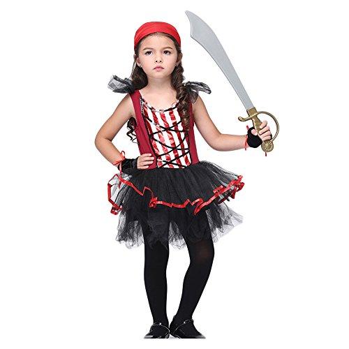 Feicuan Kinder Piratenkostüm Kostüm - Halloween Masquerade Role Play Tutu Kleid Fasching Karneval Verkleidung