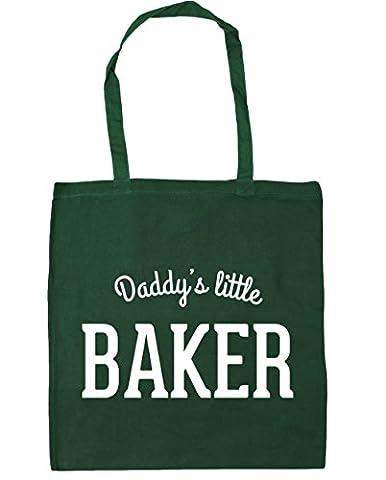 hippowarehouse Daddy's Little Baker Sac à shopping/Sac de plage 42cm x38cm, 10litres - vert - Taille unique