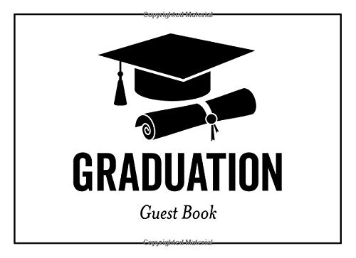 Graduation Guest Book: Classic Party Sign-In Notebook