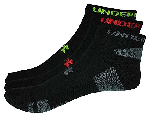 Under Armour Men's HeatGear No-Show Socks (3-Pack) (Color may vary)