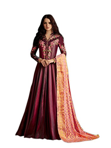 Shoppingover Latest Collection Asian women Party wear Bridal Salwar Kameez-Pink Color