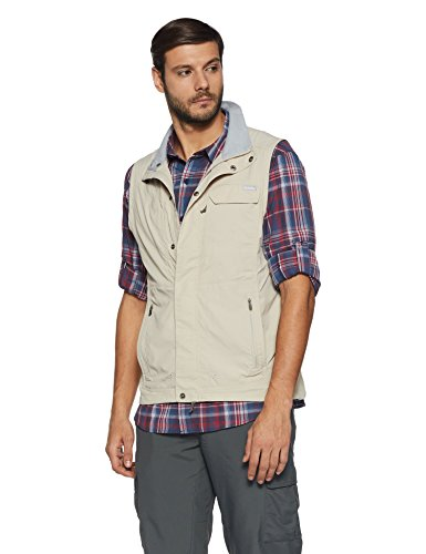 Feuchtigkeit Wicking Ärmellos (Columbia Silver Ridge Vest Herren Weste, Fossil, XL, AM1019)