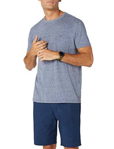 Tommy Jeans Herren Essential Pocket  Kurzarm  T-Shirt Blau (Black Iris 002) Medium -