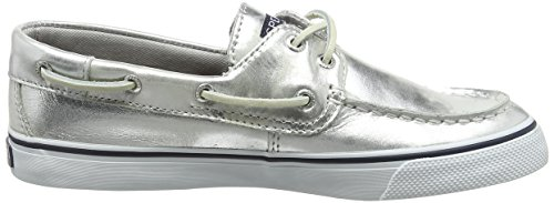 Sperry Top-Sider Bahama, Baskets Basses Femme Argent (Silver)