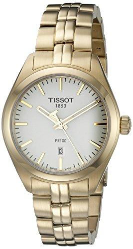 Tissot Damen-Uhren Analog Quarz One Size Edelstahl 86738627 (Tissot Uhr Damen Classic)
