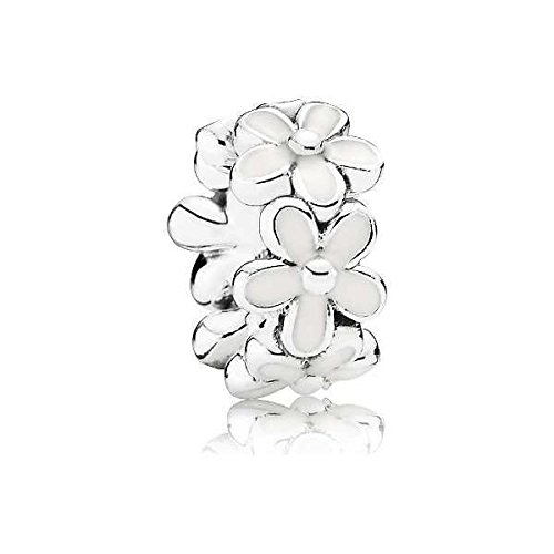 Pandora Damen-Bead-Zwischenelement Liebliche Gänseblümchen 925 Silber Emaille - 791495EN12