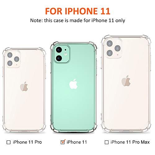 Babacom Funda para iPhone 11 (6.1 Pulgada),  Alta Claro Delgado Carcasa para iPhone 11 Reforzado Cojín de Esquina Parachoques,  Flexible TPU Suave Anti- Rasguños Case para iPhone 11,  Versión 2019