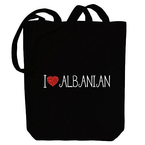 Idakoos I love Albanian cool style - Sprachen - Bereich für Taschen