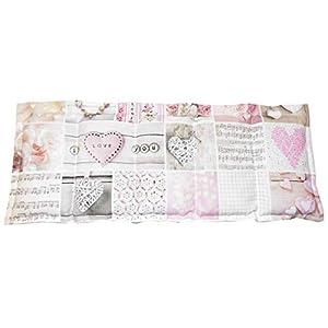 Körnerkissen Kühlkissen Wärmekissen Dinkelkissen Herzen weiß/beige/rosa 50x20 100% Baumwolle