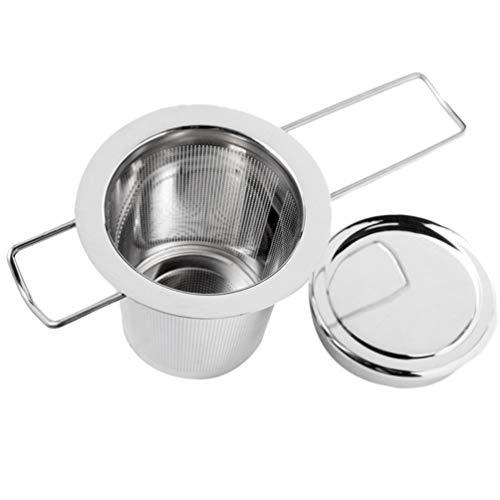 ACORRA Tee-Ei mit Deckel Edelstahl Klappgriff Loseblatt-Tee-Ei Tee-Ei-Sieb für Loseblatt-Körnchen-Teetassen (Tee-wasserkocher Mit Infusers)