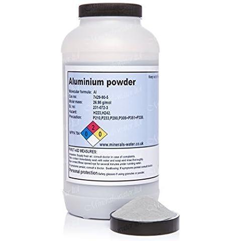1kg Aluminio polvo 99.7%-pureza gran calidad Armá seguro para revisar con minerales-agua al ir a por what's en la imagen