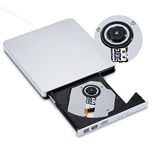 Tragbar Externe USB 2.0 CD / DVD RW Brenner Drive Superdrive Laufwerk für Apple MacBook, MacBook Pro, MacBook Air Laptop Desktop - (weiß)