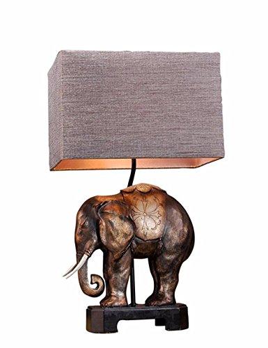 Cjshv-Lámpara De Elefantes De Estilo Clásico Europeo Lámpara Bedroom Cama Lámparas Decoración...