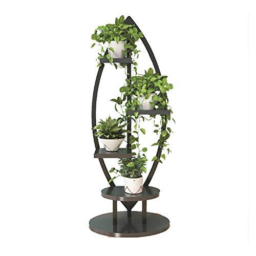 Holz-laminat Base (YQQ Blumenständer Pflanzenblume Stehen Bodenständig,Mehrschichtig Pflanzenstand Blumenständer Aus Stahl Oval Base Antirust Wohnzimmer-Präsentationsständer (Farbe : B))