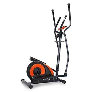 Klarfit ELLIFIT FX 250 Vélo elliptique Fitness (Tableau de Bord, pulsomètre, Crosstrainer, 8 Niveaux, Moniteur pouls, Affichage LCD, Max. 110kg) - Orange