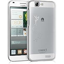 kwmobile Elegante y ligera funda Crystal Case Diseño hada para Huawei Ascend G7 en plata transparente