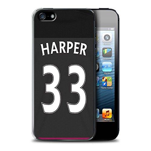Offiziell Sunderland AFC Hülle / Case für Apple iPhone 5/5S / Kone Muster / SAFC Trikot Away 15/16 Kollektion Harper