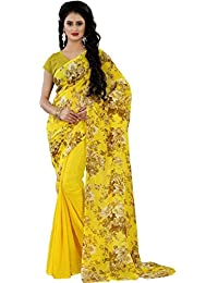 Being Banarasi Floral Print Faux Georgette Saree(1148_Color)