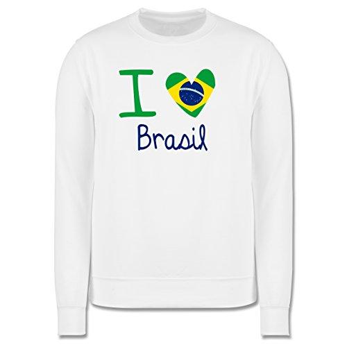 Länder - I love Brasil - Herren Premium Pullover Weiß