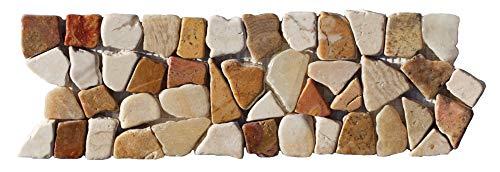 BO-335 Marmor Mosaikfliesen Bordüre Bruchstein Fliesen Lager Verkauf Stein-mosaik Herne NRW Naturstein-Badezimmer
