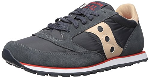 Saucony Jazz Low PRO, Sneaker Uomo, Grigio (Charcoal/Tan), 46 EU