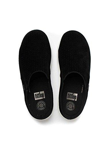 FitFlop Loaff Verstopfen (Perf) Schuhe Schwarz Schwarz